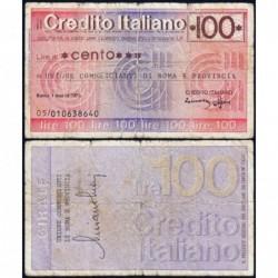 Italie - Miniassegni - Il Credito Italiano - 100 lire - 01/03/1976 - Etat : TB-