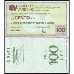 Italie - Miniassegni - Il Credito Varesino - 100 lire - 03/08/1977 - Etat : TTB
