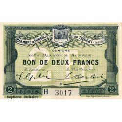 Le Tréport (Eu, Blangy, Aumale) - Pirot 71-30a-H - 2 francs - 1916 - Etat : SUP