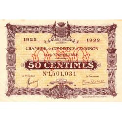 Avignon - Pirot 18-26 - 50 centimes - 26/10/1921 - Etat : TTB+