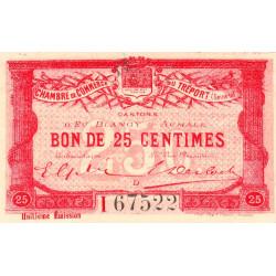 Le Tréport - Pirot 71-31 - 25 centimes - Lettre D - Série I - 8e émission - 1916 - Etat : SUP