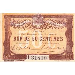Le Tréport - Pirot 71-32 - 50 centimes - Lettre C - Série I - 8e émission - 1916 - Etat : SUP+