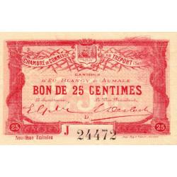 Le Tréport (Eu, Blangy, Aumale) - Pirot 71-35-J - 25 centimes - 1917 - Etat : pr.NEUF