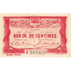Le Tréport (Eu, Blangy, Aumale) - Pirot 71-35-J - 25 centimes - 1917 - Etat : TTB