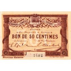 Le Tréport - Pirot 71-36a - 50 centimes - Lettre C - Série J - 9e émission - 1917 - Etat : SPL