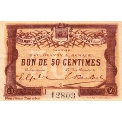 Le Tréport (Eu, Blangy, Aumale) - Pirot 71-36b-J - 50 centimes - 1917 - Etat : TB+