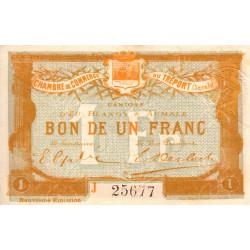 Le Tréport - Pirot 71-37 - 1 franc - Lettre A - Série J - 9e émission - 1917 - Etat : SUP