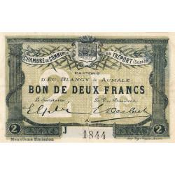 Le Tréport - Pirot 71-38 - 2 francs - Lettre A - Série J - 9e émission - 1917 - Etat : TTB