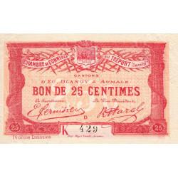 Le Tréport - Pirot 71-39 - 25 centimes - Lettre D - Série K - 10e émission - 1918 - Etat : SUP