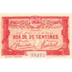 Le Tréport - Pirot 71-40 - 25 centimes - Lettre D - Série L - 11e émission - 1918 - Etat : SUP+