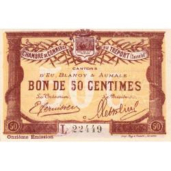 Le Tréport - Pirot 71-42 - 50 centimes - Lettre C - Série L - 11e émission - 1918 - Etat : SPL
