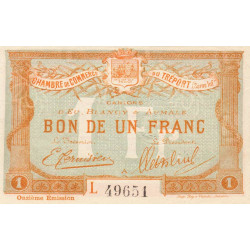 Le Tréport (Eu, Blangy, Aumale) - Pirot 71-44 - 1 franc - Etat : SPL