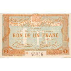 Le Tréport - Pirot 71-50 - 1 franc - Lettre A - Série M - 12e émission - 1920 - Etat : SUP+