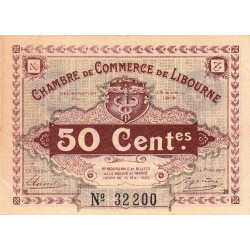 Libourne - Pirot 72-01 - 50 centimes - 1915 - Etat : SUP