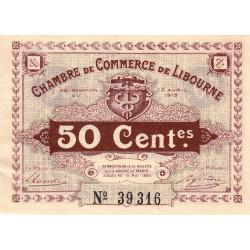 Libourne - Pirot 72-1 - 50 centimes - Sans série - 13/04/1915 - Etat : SUP