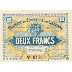 Libourne - Pirot 72-08 variété - 2 francs - 1915 - Etat : SUP+