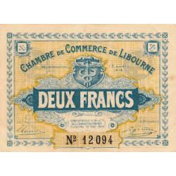 Libourne - Pirot 72-8 - 2 francs - Sans série - 13/04/1915 - Etat : TTB