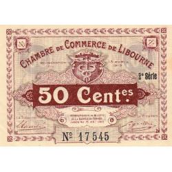 Libourne - Pirot 72-12 - 50 centimes - 1915 - Etat : SUP