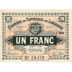 Libourne - Pirot 72-13 - 1 franc - 2e série - 13/04/1915 - Etat : SUP