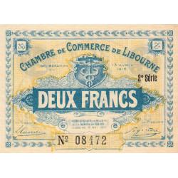 Libourne - Pirot 72-14 - 2 francs - 2e série - 13/04/1915 - Etat : SUP+