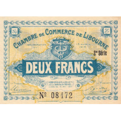 Libourne - Pirot 72-14 - 2 francs - Etat : SUP+