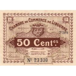 Libourne - Pirot 72-15 - 50 centimes - 3e série - 13/04/1915 - Etat : SUP
