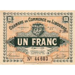 Libourne - Pirot 72-16 - 1 franc - 3e série - 13/04/1915 - Etat : SUP