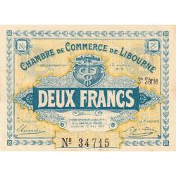 Libourne - Pirot 72-17 - 2 francs - 3e série - 13/04/1915 - Etat : SUP