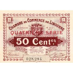 Libourne - Pirot 72-18 - 50 centimes - Quatrième série - 12/05/1917 - Etat : SUP+