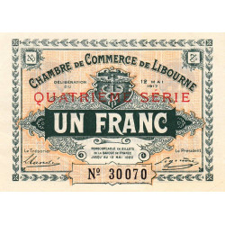 Libourne - Pirot 72-19 - 1 franc - 1917 - Etat : SUP+
