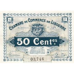 Libourne - Pirot 72-23 - 50 centimes - Cinquième série - 20/06/1918 - Etat : SUP+