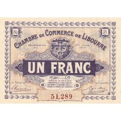 Libourne - Pirot 72-25 - 1 franc - 1918 - Etat : SUP+