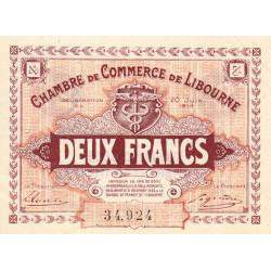 Libourne - Pirot 72-27 - 2 francs - Cinquième série - 20/06/1918 - Etat : SUP+