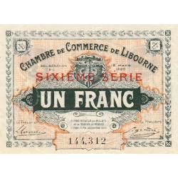 Libourne - Pirot 72-30 - 1 franc - Sixième série - 12/03/1920 - Etat : SUP+