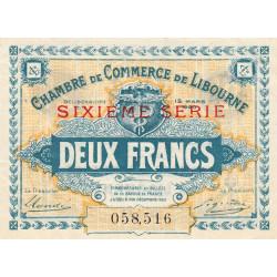 Libourne - Pirot 72-31 - 2 francs - Sixième série - 12/03/1920 - Etat : SUP+