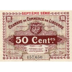 Libourne - Pirot 72-32 - 50 centimes - Septième série - 23/09/1920 - Etat : SUP+