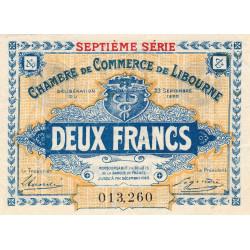 Libourne - Pirot 72-34 - 2 francs - Septième série - 23/09/1920 - Etat : SUP+