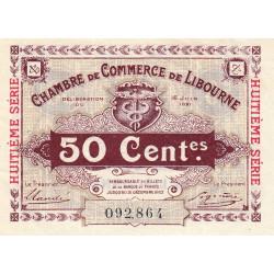 Libourne - Pirot 72-35 - 50 centimes - Huitième série - 16/06/1921 - Etat : SUP+