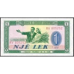 Albanie - Pick 40a - 1 lek - Série RV - 1976 - Etat : NEUF