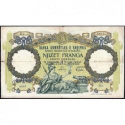 Albanie - Pick 7 - 20 francs - Série H6 - 1939 - Etat : TB