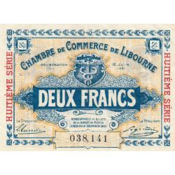 Libourne - Pirot 72-37 - 2 francs - Huitième série - 16/06/1921 - Etat : TTB