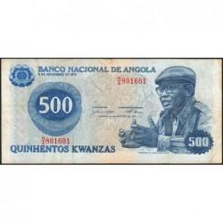 Angola - Pick 116 - 500 kwanzas - Série N/A - 14/08/1979 - Etat : TB+