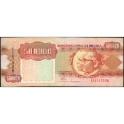 Angola - Pick 134 - 500'000 kwanzas - Série JK - 04/02/1991 - Etat : TB