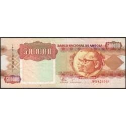 Angola - Pick 134 - 500'000 kwanzas - Série JP - 04/02/1991 - Etat : TTB