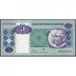 Angola - Pick 144a - 5 kwanzas - Série OB - 10/1999 - Etat : NEUF