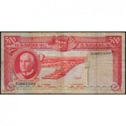 Angola - Pick 97 - 500 escudos - Série 2 Lkk - 10/06/1970 - Etat : TB
