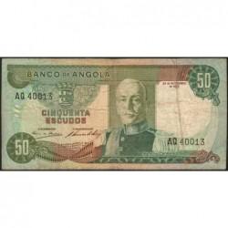 Angola - Pick 100 - 50 escudos - Série AQ - 24/11/1972 - Etat : TB-