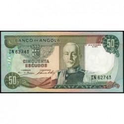 Angola - Pick 100 - 50 escudos - Série IN - 24/11/1972 - Etat : SPL