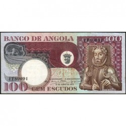 Angola - Pick 106 - 100 escudos - Série FF - 10/06/1973 - Etat : TTB