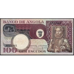 Angola - Pick 106 - 100 escudos - Série PP - 10/06/1973 - Etat : TTB+